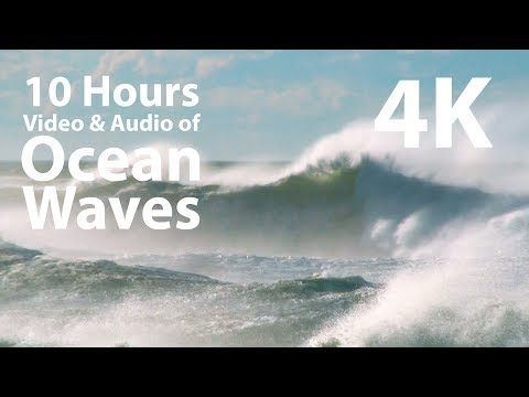 4K UHD 10 hours - Wild Ocean Waves - calm, meditation, nature