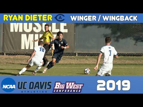 Ryan Dieter 2019 UC Davis NCAA D1 Soccer Highlights