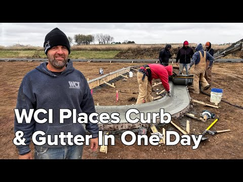 WCI Places Their Curb And Gutter In One Day