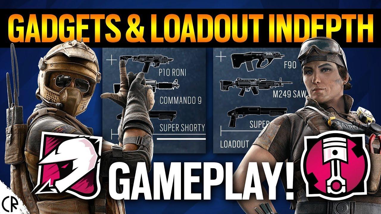 Gadgets & Loadout Gameplay INDEPTH - Mozzie & Gridlock