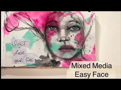 Easy Mixed Media Face
