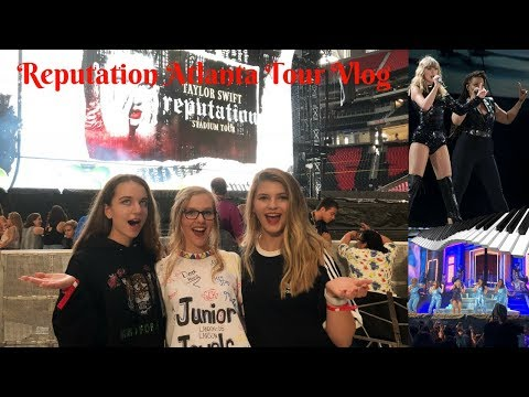 REPUTATION STADIUM TOUR VLOG!  TAYLOR SWIFT IN ATLANTA, GEORGIA 8/10/18