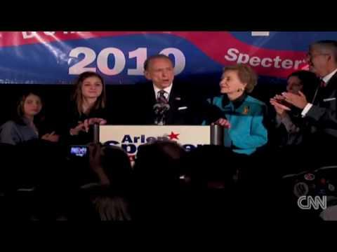 Senator Arlen Specter gives his concession speech