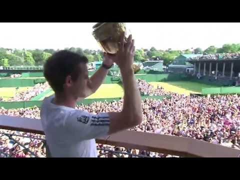 Andy Murray's Wimbledon trophy tour