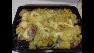 Картошка с мясом. Готовим в мини печи