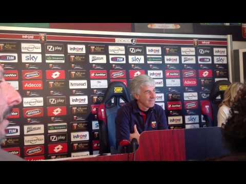 Genoa-Fiorentina: la conferenza stampa di Gianpiero Gasperini