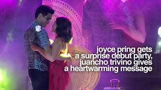 Joyce Pring Gets a Surprise Debut Party, Juancho Trivino Gives a Heartwarming Message #JuanChoyce