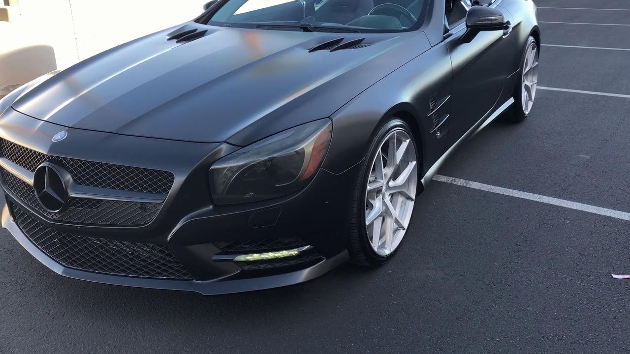 2014 mercedes sl550 matte black at celebrity cars las vegas youtube rh youtube com
