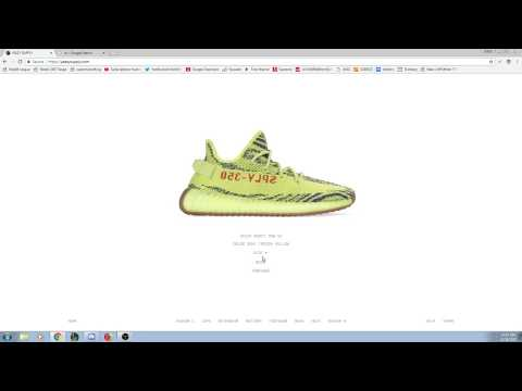 FROZEN YELLOW ZEBRA LIVE COP ON YEEZYSUPPLY - LETS GO