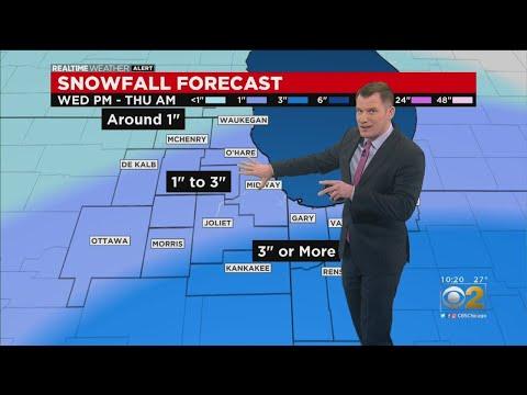 Snow Set To Arrive Wednesday Evening