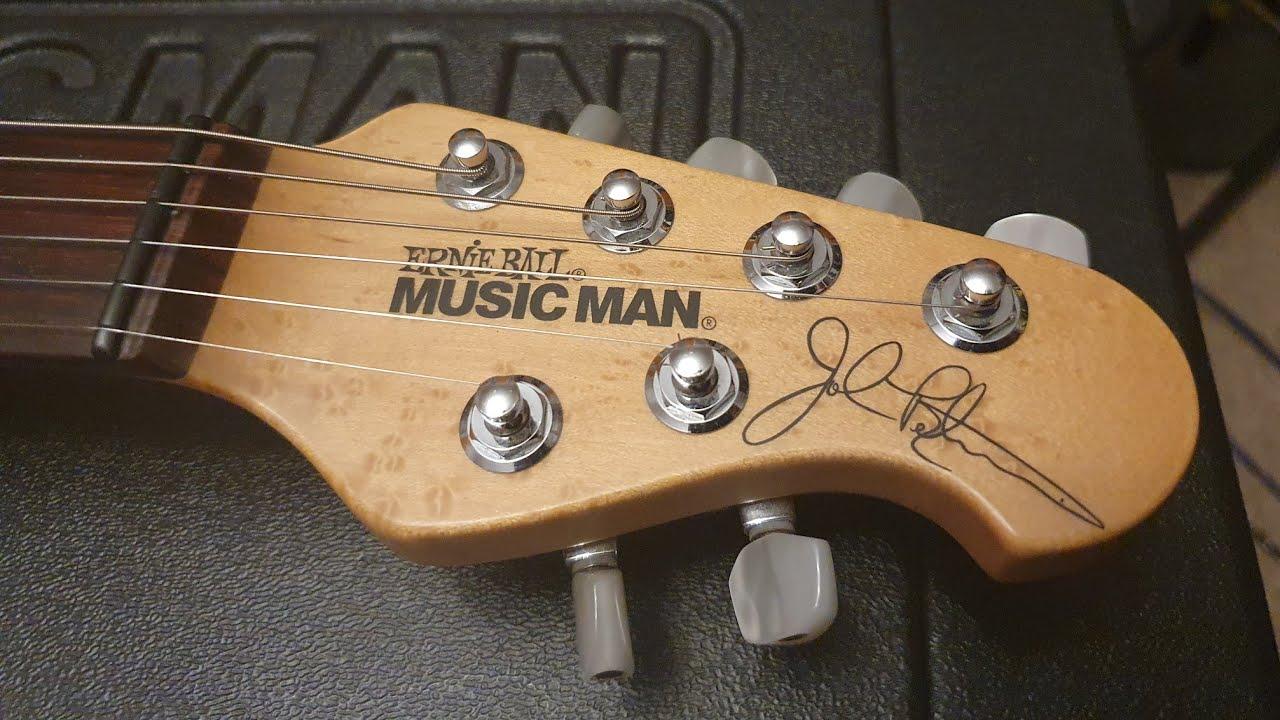 Music Man John Petrucci Jp6 Usa Signature Silver Sparkle Dimarzio Guitar Up Close Video Review Youtube