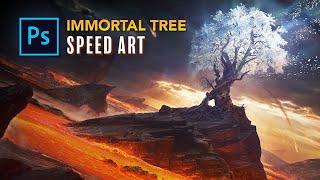 Creating an IMMORTAL TREE in Photoshop! - Fantasy Photo Manipulation Speed Art