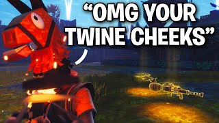 Scammer just realized I'm TWINE CHEEKS!! 😂😱 (Scammer Get Scammed) Fortnite Save The World