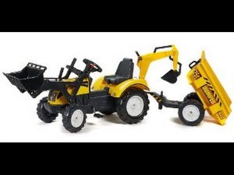 Tracteurs p dales et remorques tracteur jouet pour les enfants youtube - Tracteur remorque enfant ...