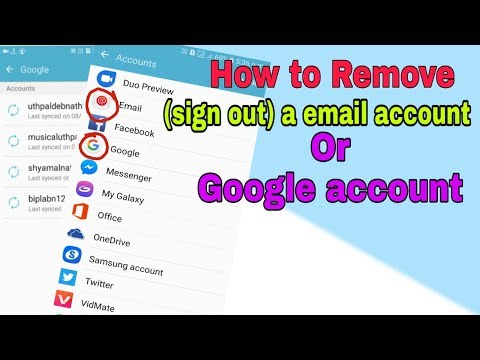 how to remove a email account from android || how to sign out google