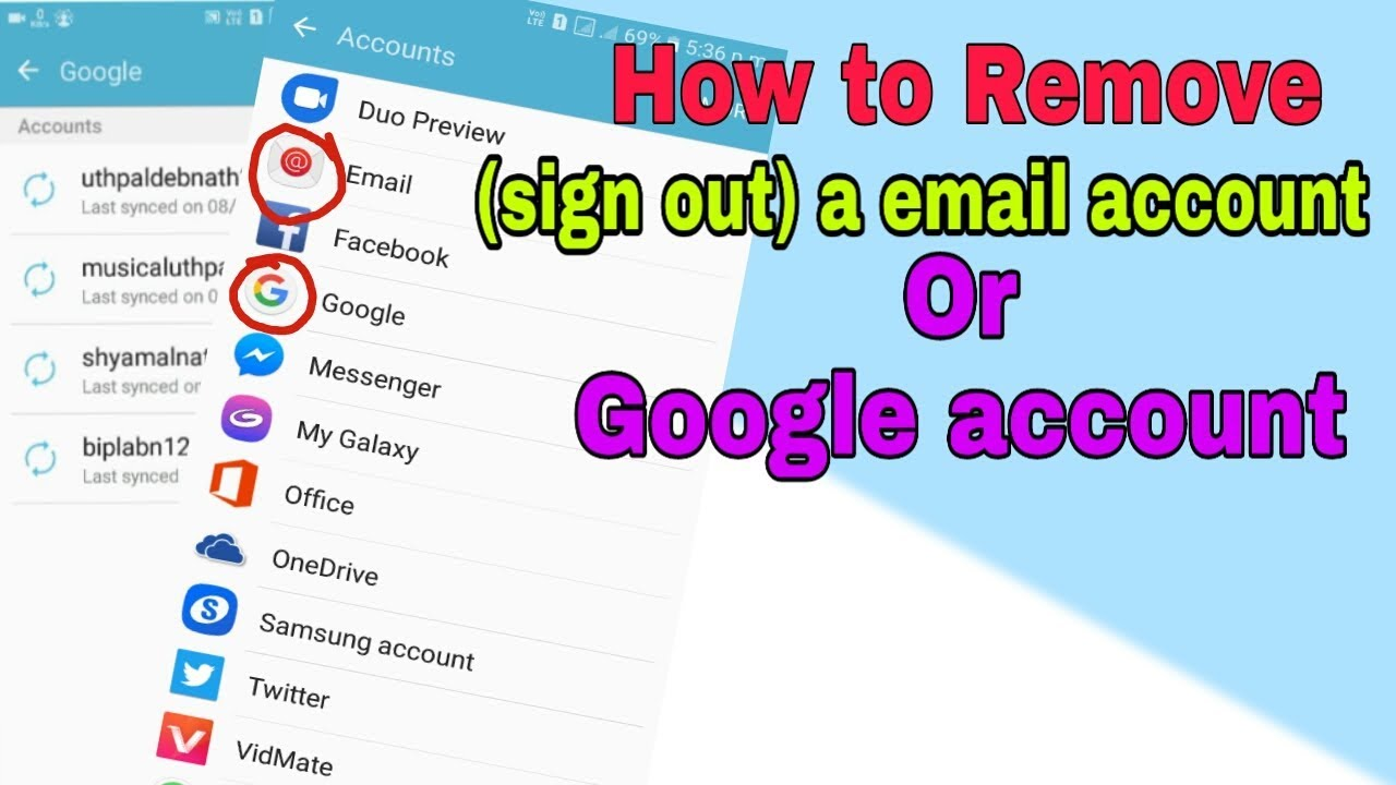 how to remove a email account from android || how to sign out google  account android