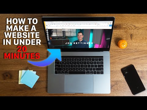 How to make a WEBSITE in under 20 minutes
