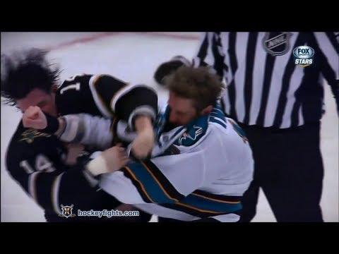 Joe Thornton vs Jamie Benn Feb 23, 2013