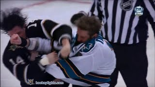 Joe Thornton vs Jamie Benn Feb 23, 2013