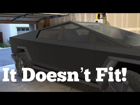 Tesla Cybertruck doesn't fit in the average garage!