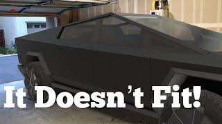 Tesla Cybertruck doesn't fit in the average garage! Video