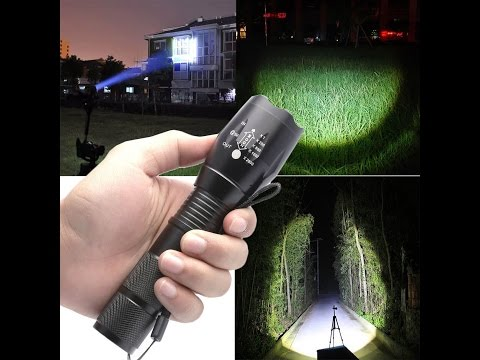 Anglewolf G700 LED Zoom Flashlight X800 Military Lumitact Torch 18650 Battery Charger