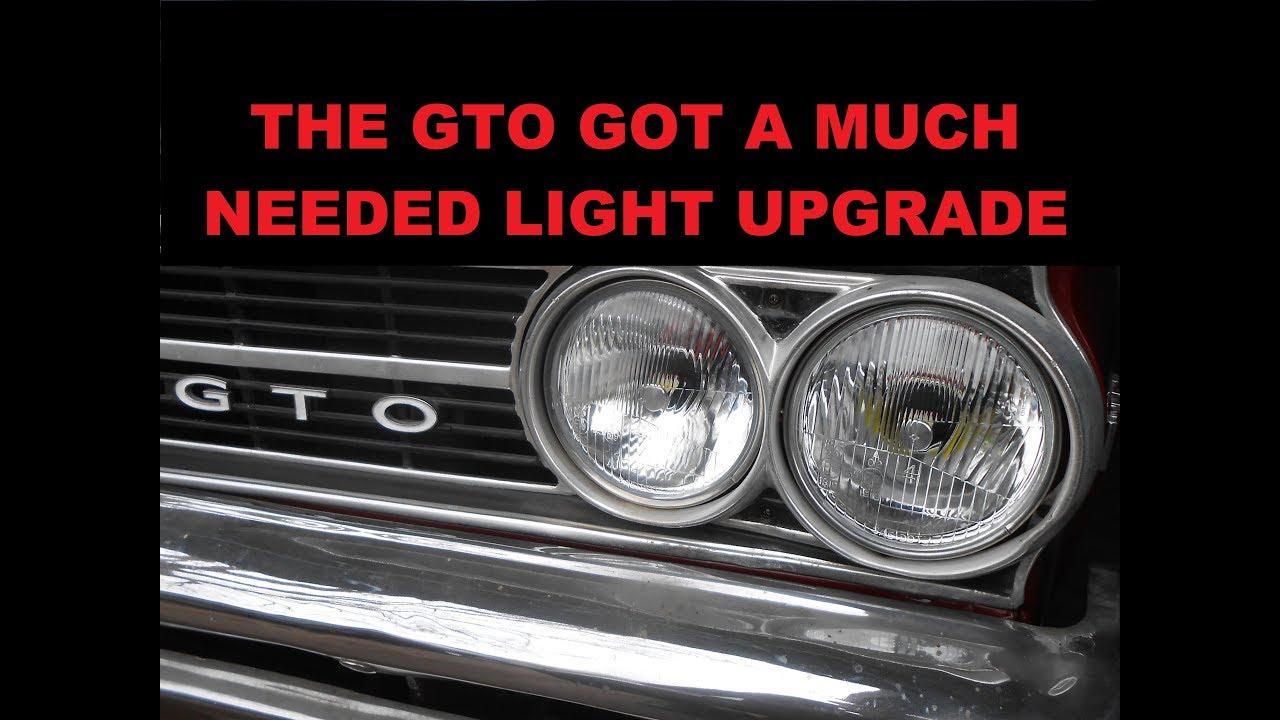 we try octane lighting 5 3 4 led headlights in the 64 gto