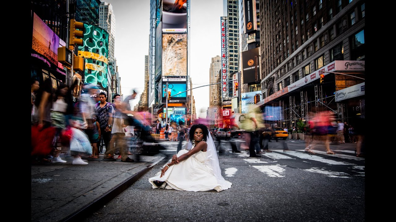 Times Square Bridals In New York City Photo Workshop With
