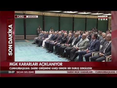 Cumhurbaşkanı Erdoğan, 3 ay ohal kararı açıklaması