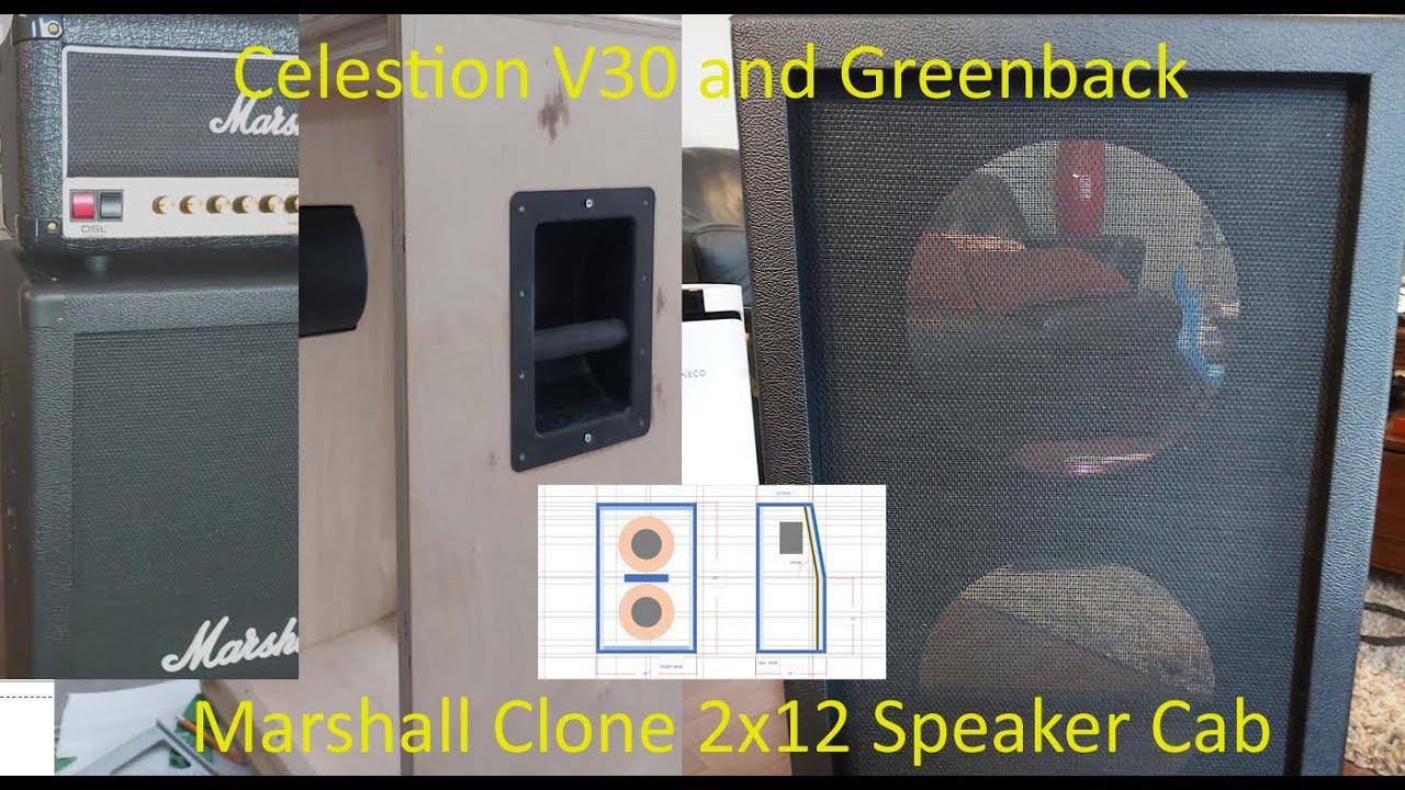 Download Marshall Clone 2x12 DIY Guitar Speaker Cabinet