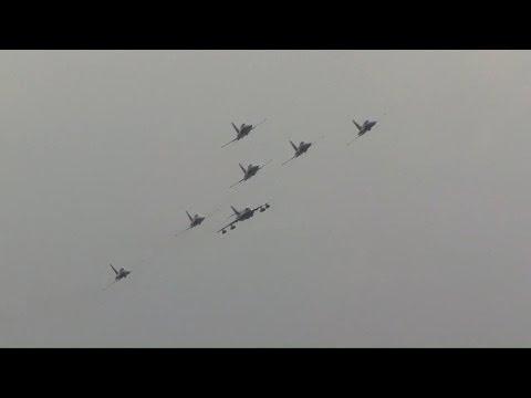 Patrouille Suisse mit Hawker Hunter HB-RVU ( J-4086 )