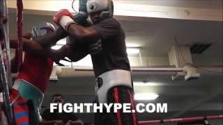 ADRIEN BRONER INTENSE SPARRING SESSION AT MAYWEATHER