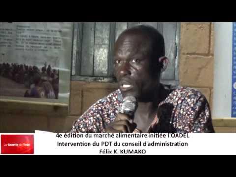 Félix K  KUMAKO explique le bien fondé du maché alimentaire de l'OADEL
