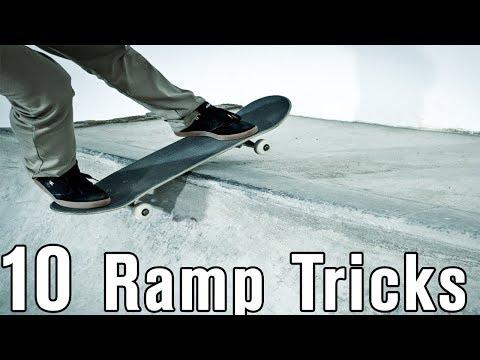 10 Mini Ramp Skateboard Tricks EVERY Skateboarder Should Have!