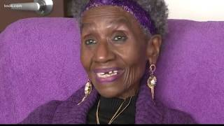 No gym, no problem! Senior walks in her living room every day