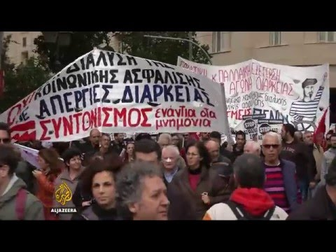 Anti-austerity protests in Greece turn violent