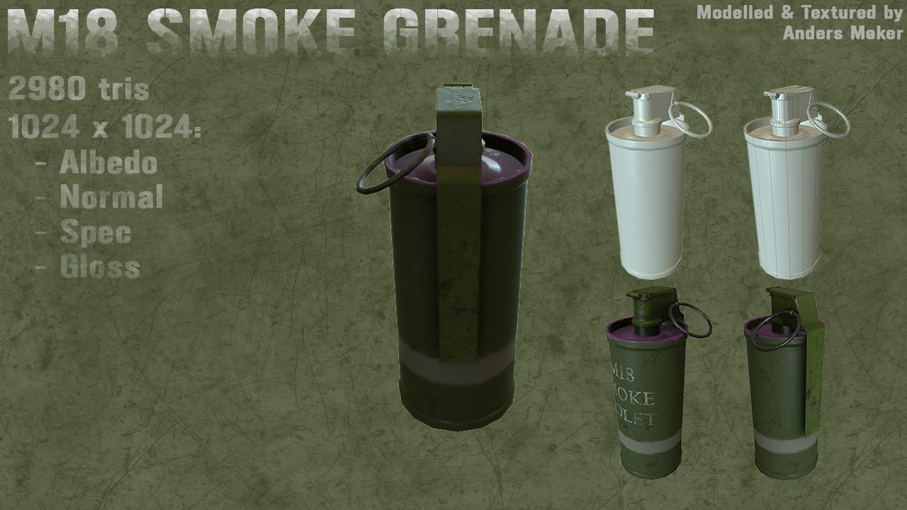 M18 Smoke Grenade Turntable