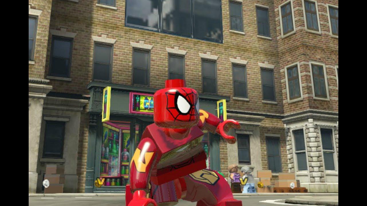 lego marvel superheroes iron spider spiderman custom