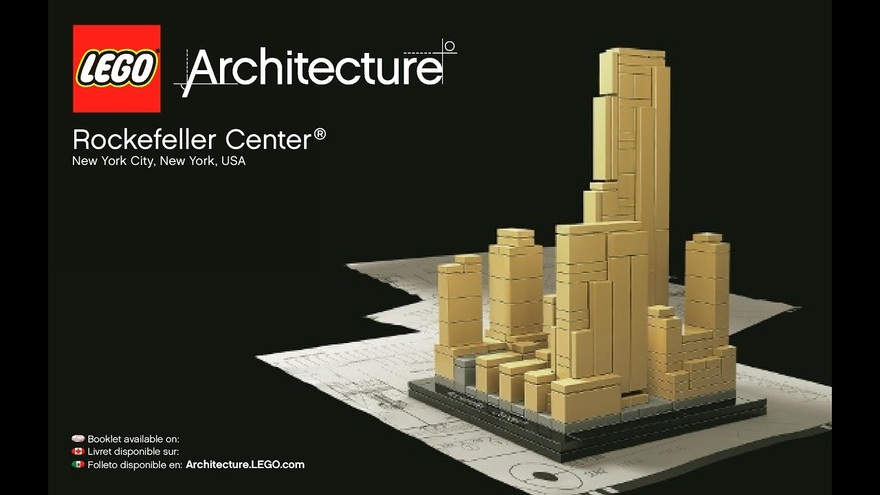 Lego Architecture Rockefeller Center 21007 Instructions Diy Youtube