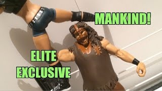 WWE ACTION INSIDER: Mankind Elite Mattel Flashback Exclusive Wrestling Figure Toy Review!