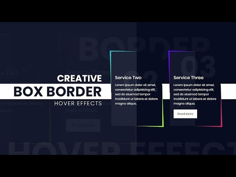 CSS Skewed Border | Creative Box Border Hover Effects | Html