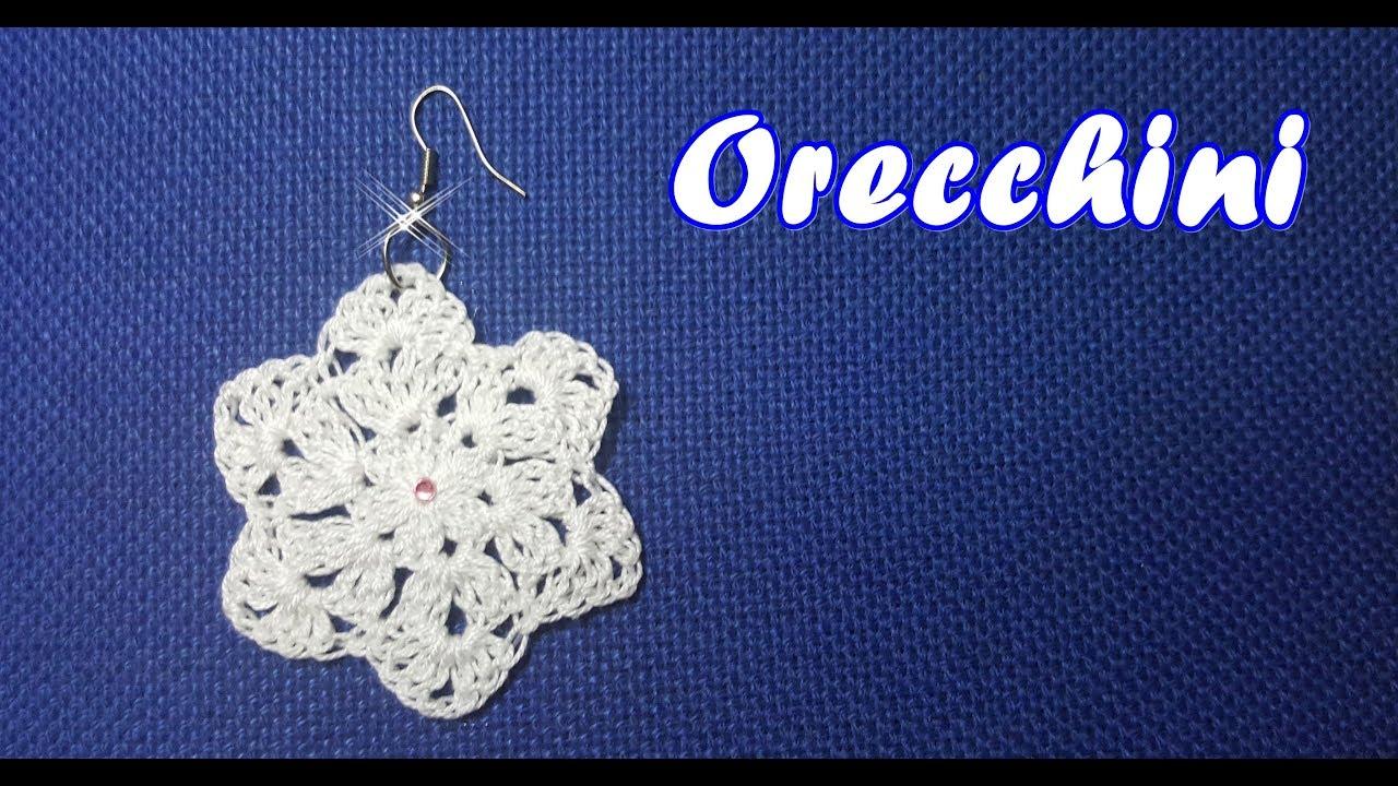 Orecchini Facili Alluncinetto Crochet Tutorial Bijoux