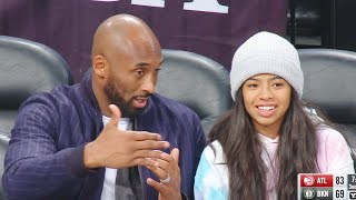 Kobe Bryant Teaches His Daughter Basketball While Watching Trae Young & Hawks vs Nets! Hawks vs Nets