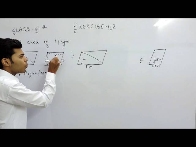 Exercise 11.2 - Question 1 (a,b,c) NCERT Solutions for Class 7th Maths Perimeter and Area