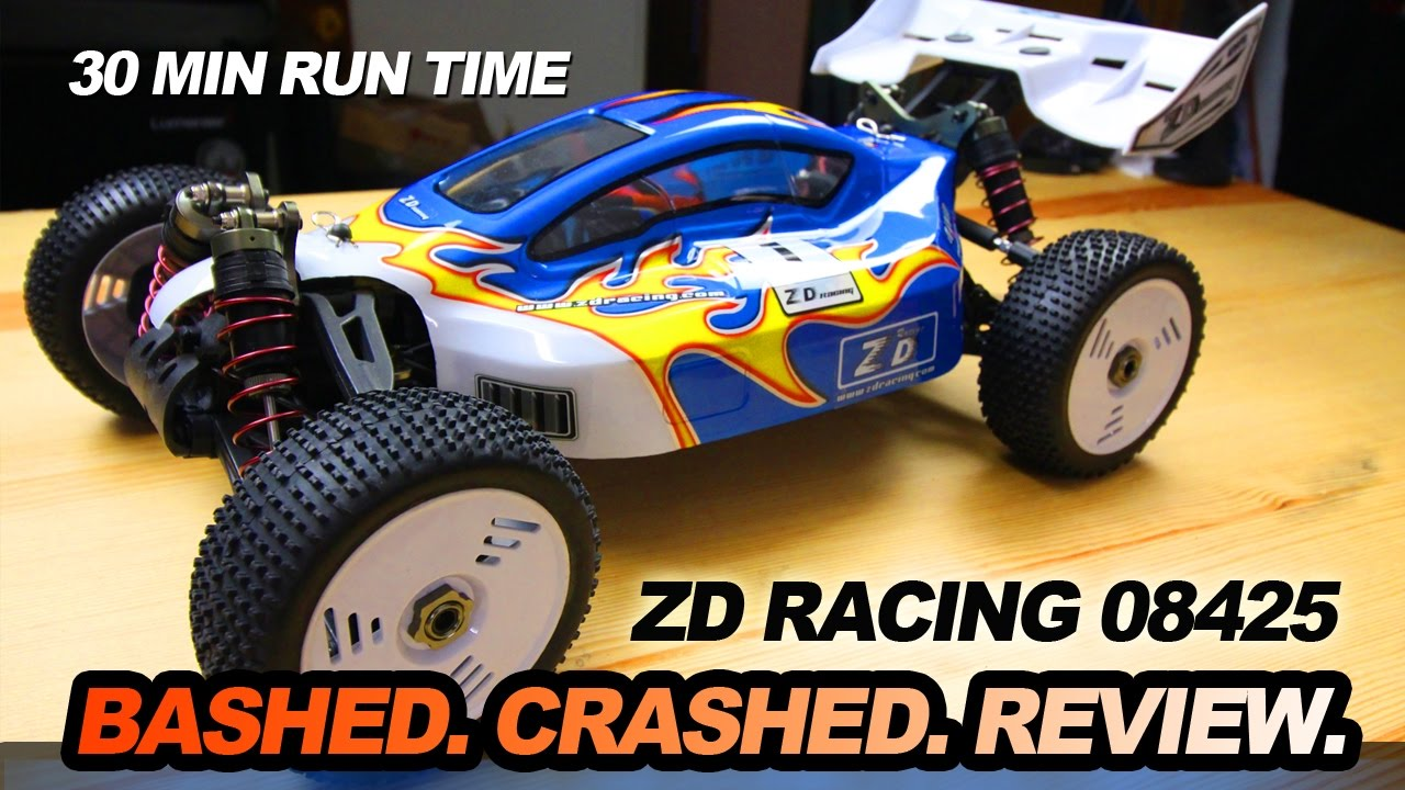ZD Racing 08425 1:8th Scale Car - BASHED CRASHED REVIEW - YouTube