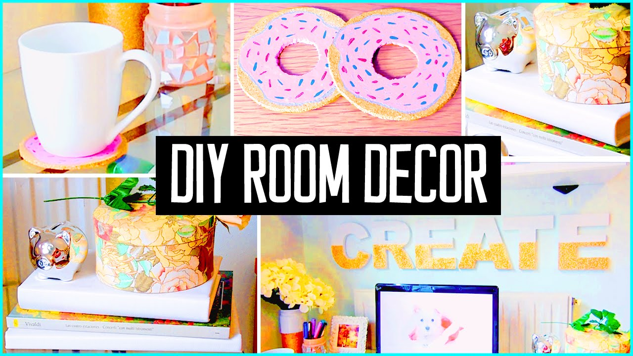 Diy room decor desk decorations cheap cute projects for Diy room decorations youtube