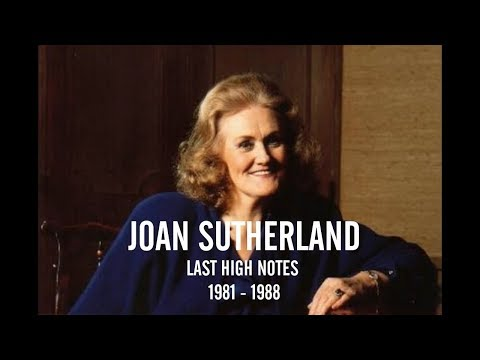 Joan Sutherland Last High Notes (1981 - 1988)