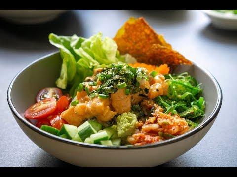 Homemade Spicy Salmon Poke Bowl 自制三文鱼盖饭