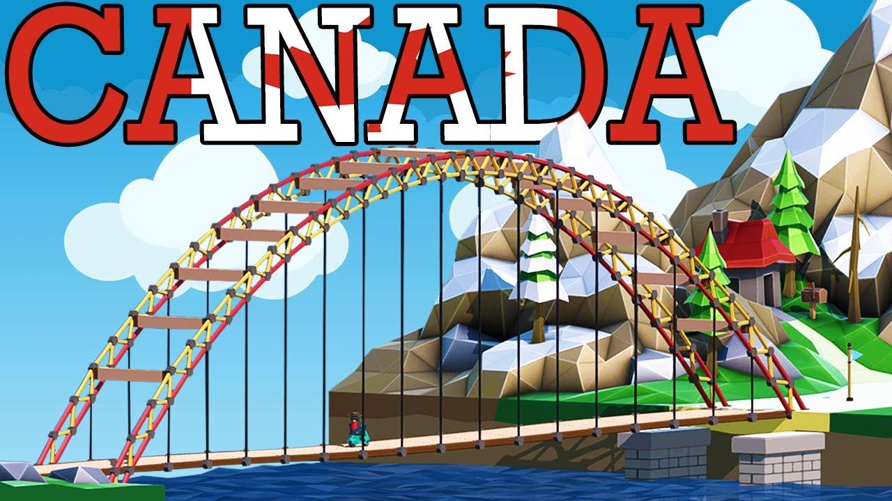 Download Building the MOST REALISTIC BRIDGES EVER in Poly Bridge 2! Canadian Bridges!