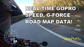 Like a Video Game | Motorcycle Speed, G-force, Distance, Map Data Overlay